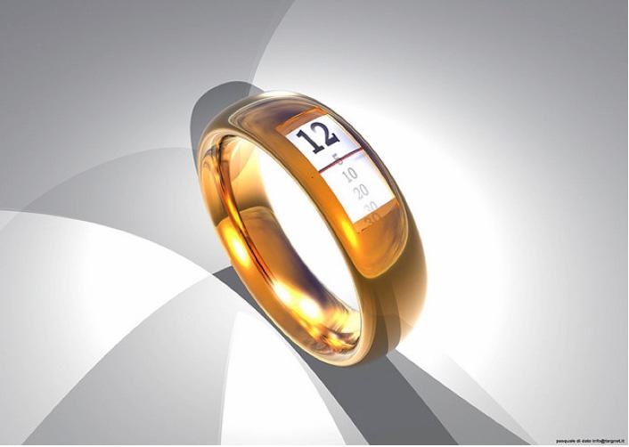 Gold Ring Watch Design