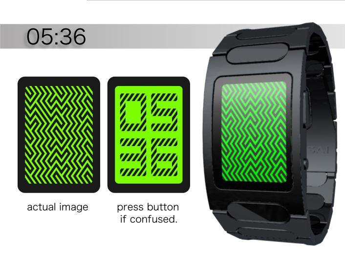 Optical Illusion LED Watch Design