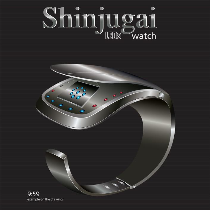 Shinjugai-Watch-Concept-LED-1
