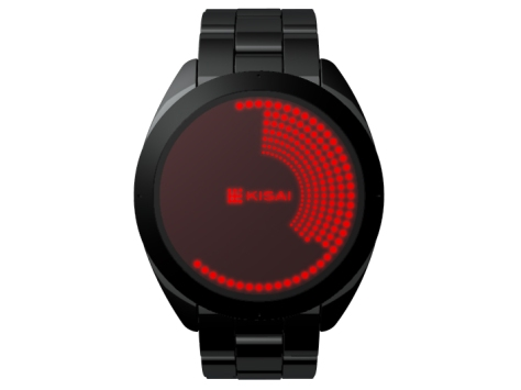 Touch Screen Dual LCD/LED Dot Matrix Watch Design Front View