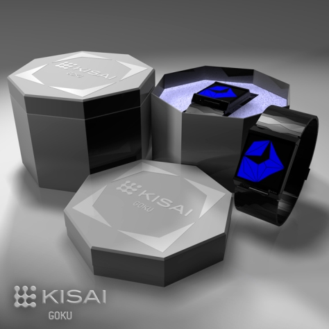 Kisai Goku LED Watch Concept Design with Packaging