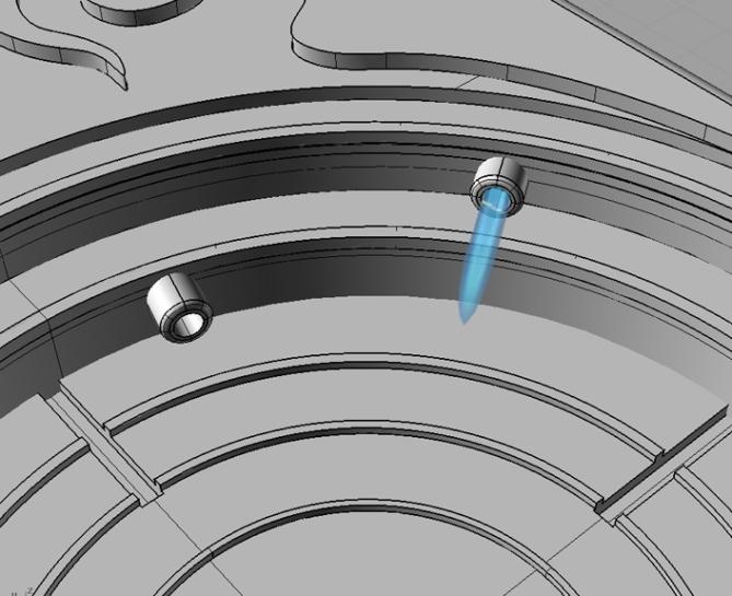 Lightning LED Watch Design Showing Lighting Effect