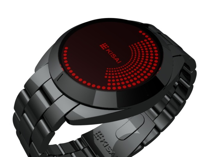 Touch Screen Dual LCD/LED Dot Matrix Watch Design Right Angle