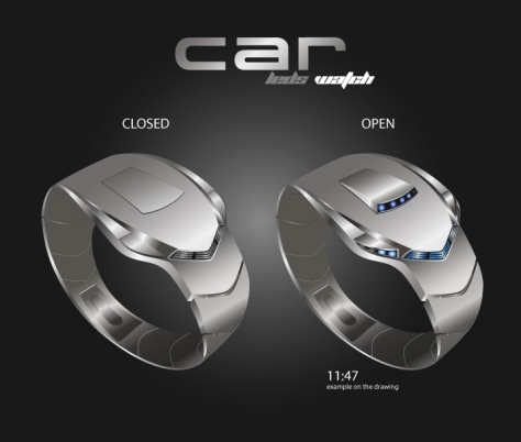 """C""_Car_Styled_LED_Watch_Design_4_Closed_Open"