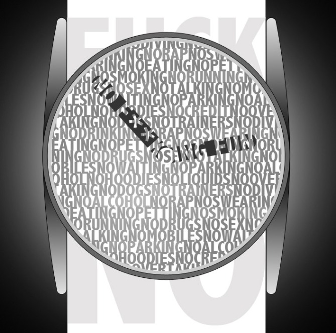 f***_no_a_rebellious_analog_watch_design_print