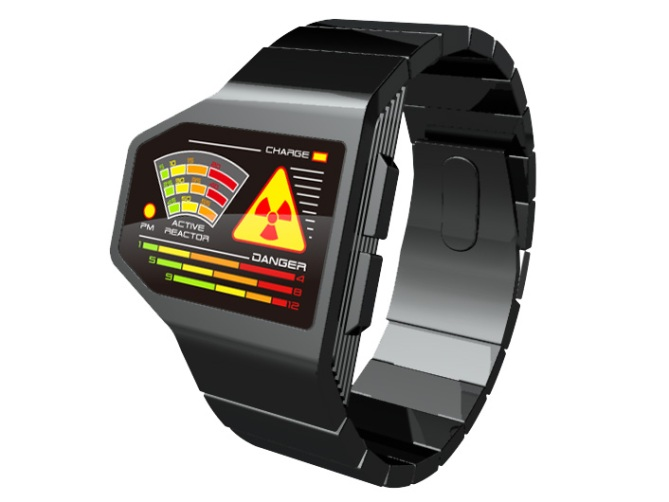 radiation_level_led_watch_design_front