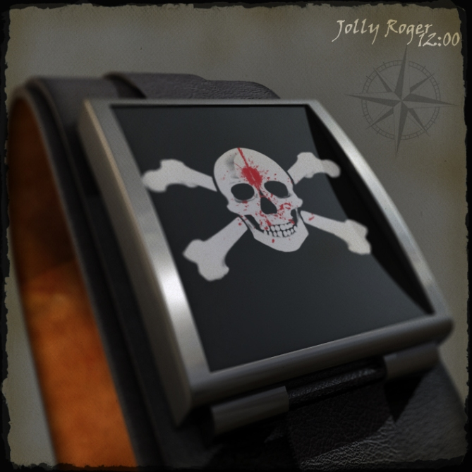 pirates_bloody_led_watch_design_closeup
