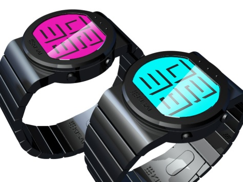 shaded_time_digital_watch_design_right_view
