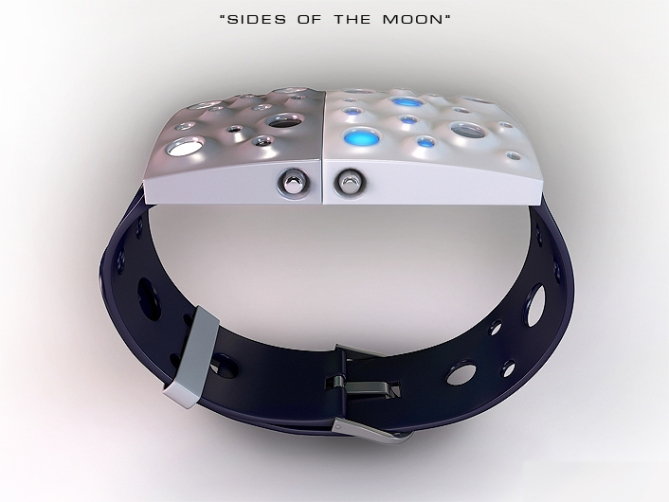 moon_craters_led_watch_design_side_view