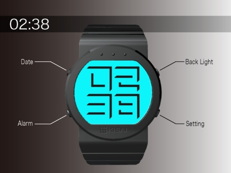 shaded_time_digital_watch_design_function