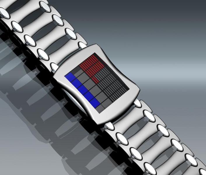 led_lit_square_watch_design