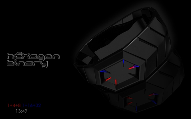 hexagonal_binary_led_watch_design_time_sample_01