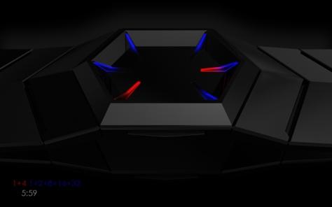 hexagonal_binary_led_watch_design_side_view