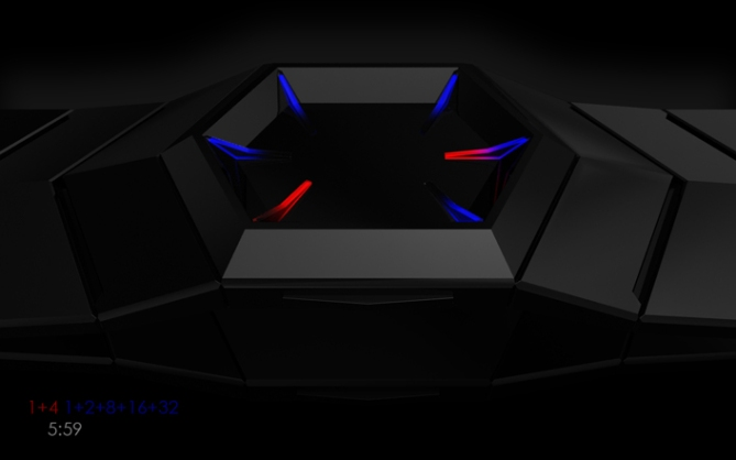 hexagonal_binary_led_watch_design_side_view