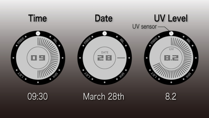 uv_index_lcd_watch_design_with_touch_screen_time_date_uv_level