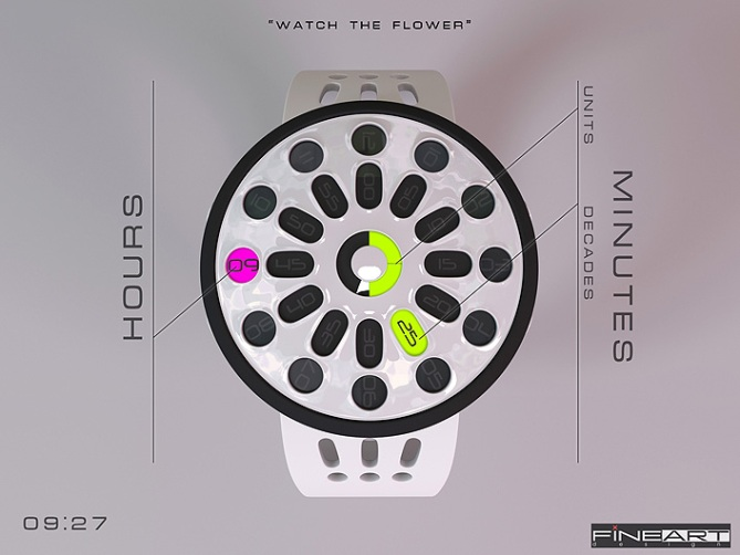 time_flower_led_watch_design_layout