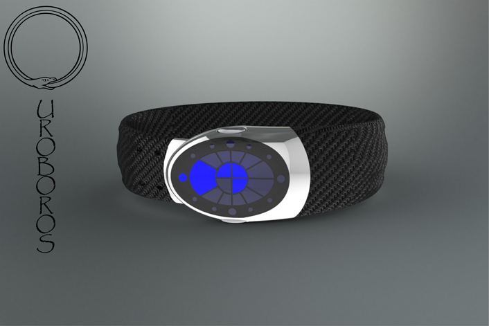 ouroboros_inspired_led_watch_design