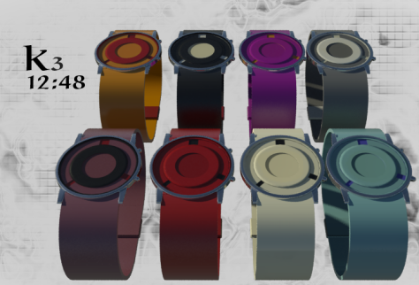 three_handed_analog_watch_design_color_variations
