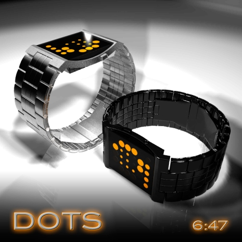 concave_dotted_led_watch_design_color_variation