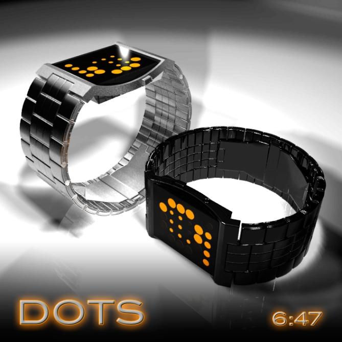 concave_dotted_led_watch_design_color_variation
