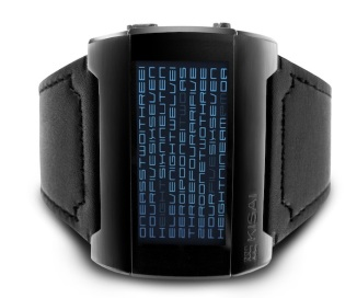 kisai_kaidoku_colored_lcd_watch_design_with_leather_strap_blue_black