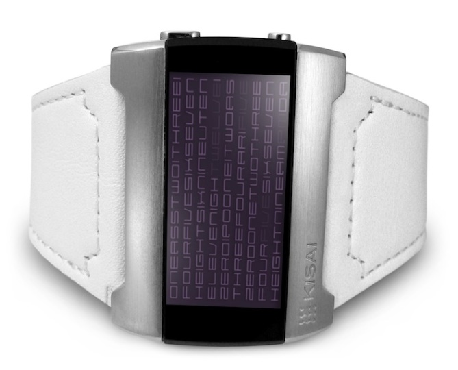 kisai_kaidoku_colored_lcd_watch_design_with_leather_strap_purple_white