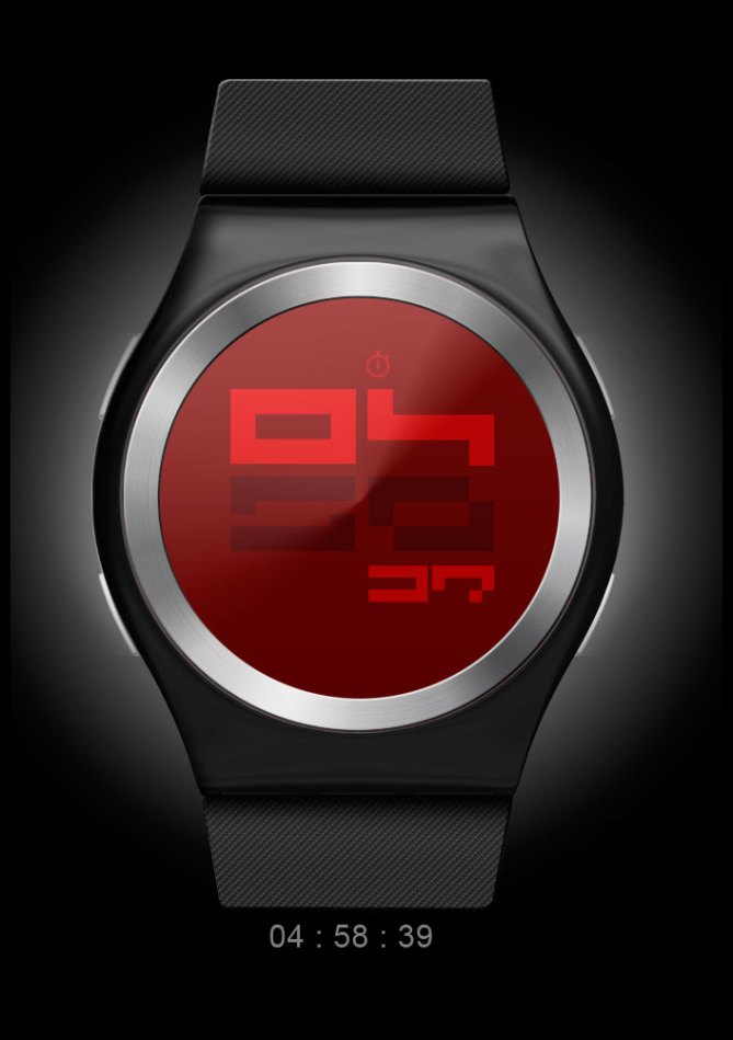 color_coded_watch_design_digital_time_sample