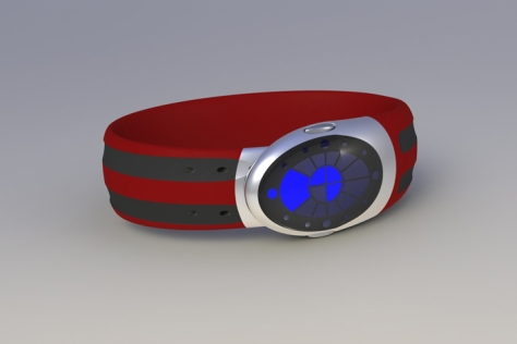 ouroboros_inspired_led_watch_design_red_black