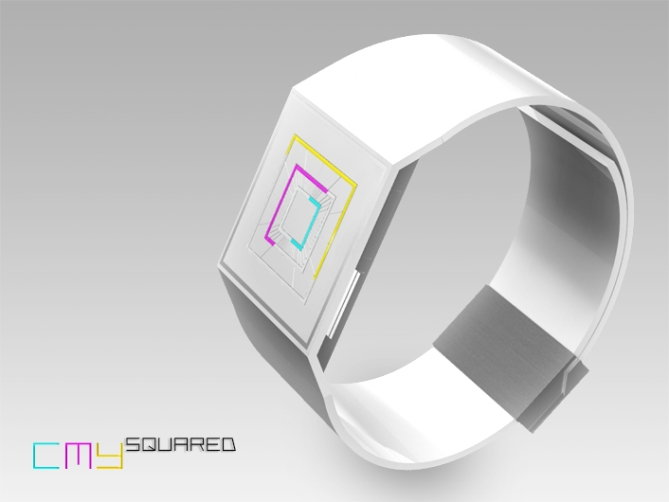 rgb_squared_analog_led_watch_design_color_variation
