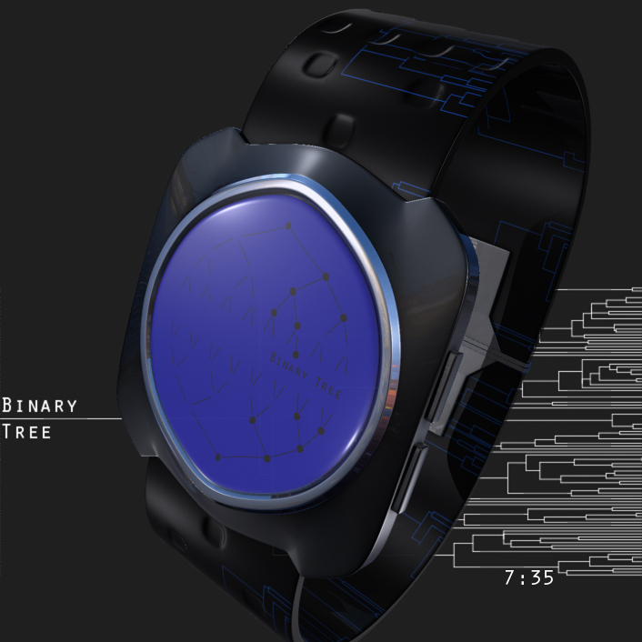 binary_tree_led_watch_design_blue
