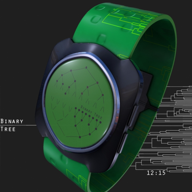 binary_tree_led_watch_design_green_time_sample