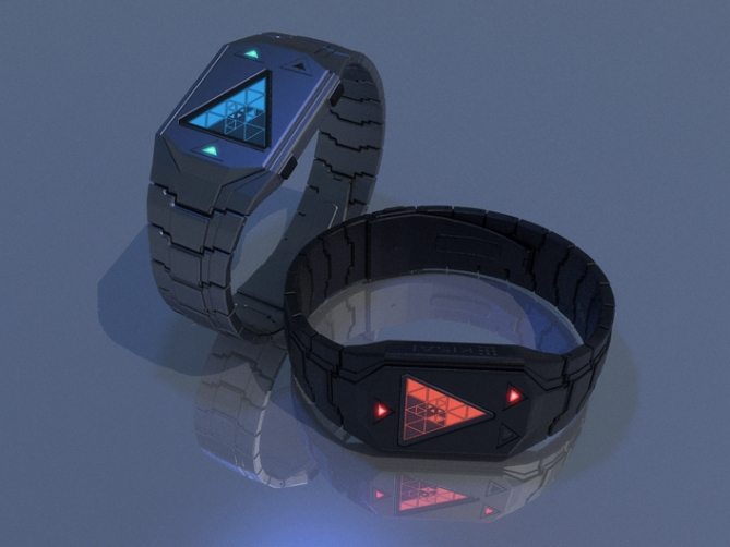 triangular_time_watch_concept_led_display