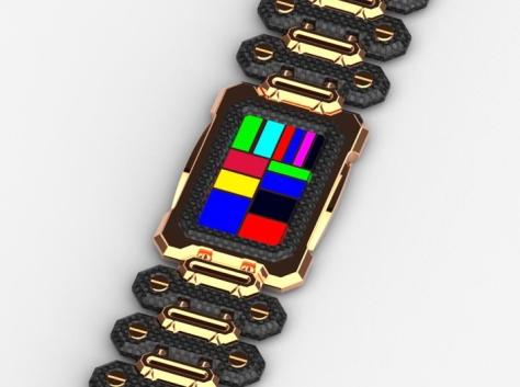 razor_phone_inspired_led_watch_design_gold_multiled