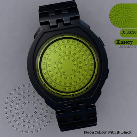 Illusory_watch_design_neon_yellow
