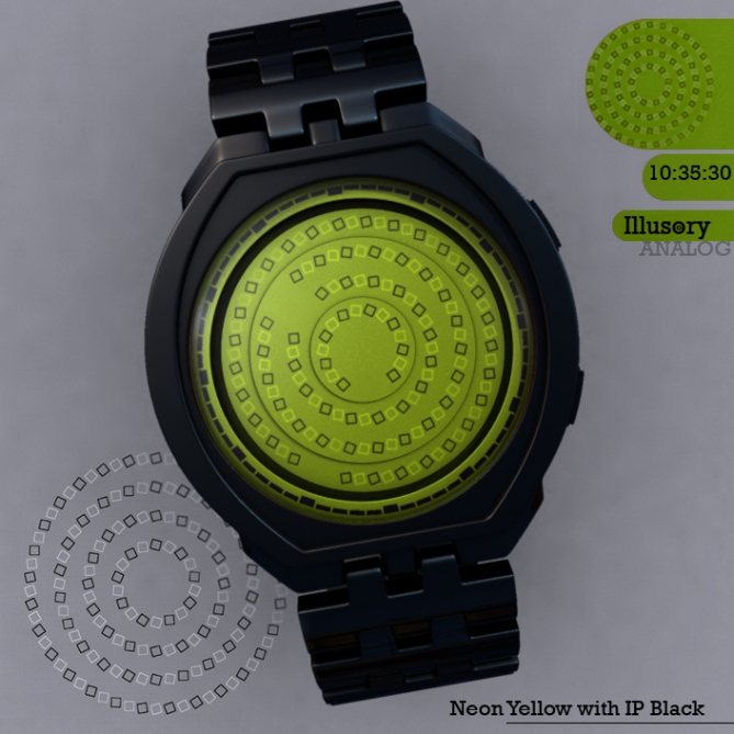 Illusory_watch_design_neon_yellow
