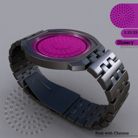 Illusory_watch_design_chrome_pink_side_view