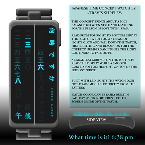time_in_kanji_led_watch_design_reading