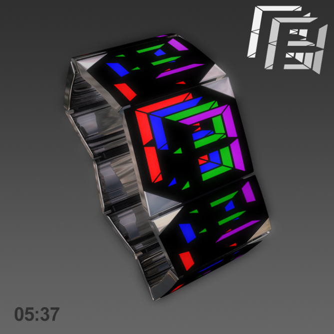 overlapped_digital_led_watch_design_multi