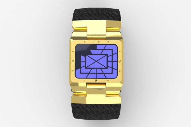 hard_shelled_led_watch_design_gold_blue