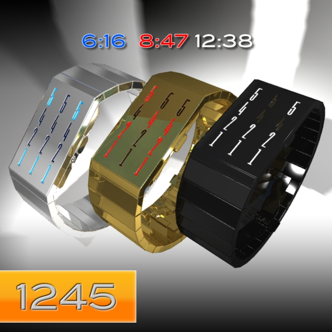 1245_led_watch_design_color_variation