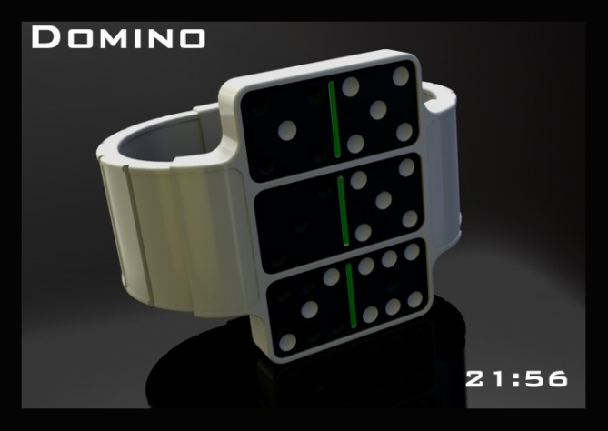 dominoes_an_led_watch_design_front_profile