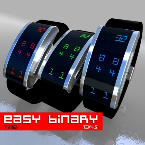 easy_binary_digital_binary_led_watch_design_color_variations