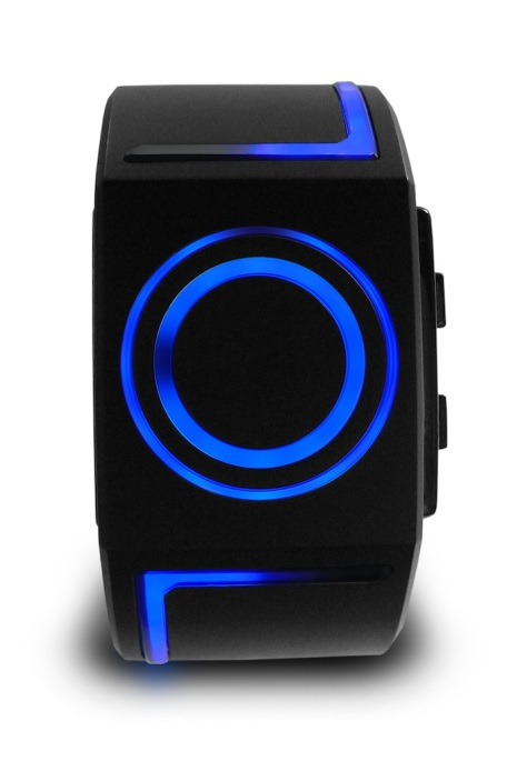 kisai_seven_usb_rechargeable_led_wrist_watch_from_tokyoflash_japan_front_view