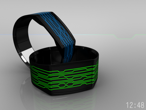 on_line_a_watch_design_with_continuous_lines_blue_green