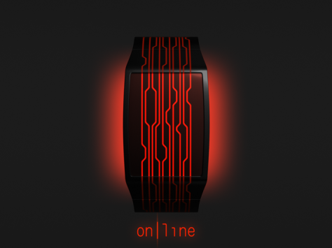 on_line_a_watch_design_with_continuous_lines_glow