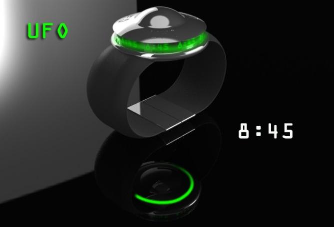 ufo_saucer_digital_lcd_watch_design_time_sample_green