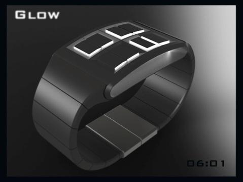 led_watch_design_glows_the_time_black_white