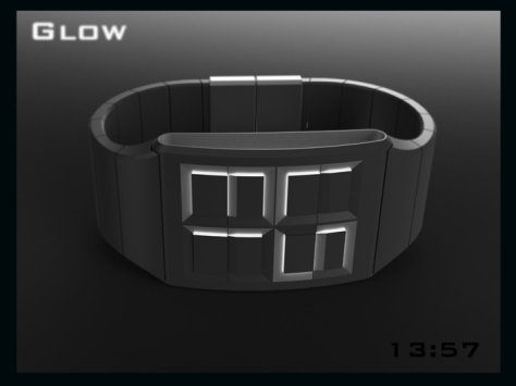 led_watch_design_glows_the_time_side_view