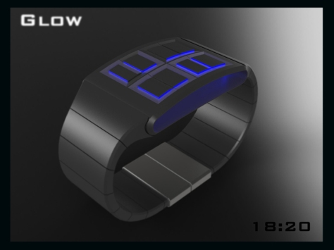 led_watch_design_glows_the_time_black_blue