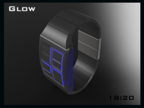led_watch_design_glows_the_time_top_view